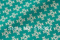 "50cm*110cm Japanese KOKKA DIY Pachwork Fabric  Linen Fabric  ""GARDEN"" Snowflake    DarkTurquoise"