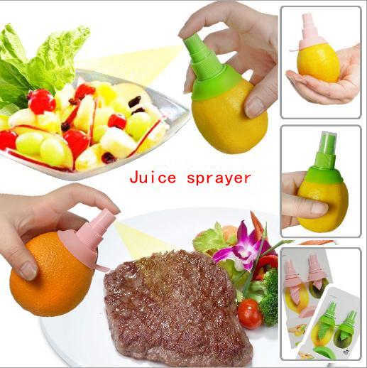 2pcs/set Mini Squeezer Hand Juicer Lemon Juice Sprayer Citrus Spray Practical household(China (Mainland))
