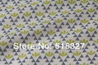 "50cm*110cm Japanese KOKKA DIY Patchwork Fabric Quilting Cloth Linen Fabric  ""GARDEN""  Leaf    YellowGreen"