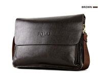 Hot sale fashion genuine leather messenger bag, POLO VIDENG promotional business bags for men, big size free shipping men fashon