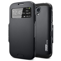 SPIGEN SGP Slim Armor View Automatic Sleep Wake Flip Case for Samsung Galaxy S4 SIV I9500 9500 1pcs/lot