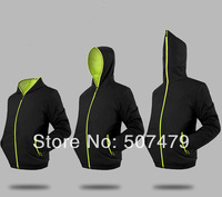HOT! The New 2014 Spring Men's Trend Long Sleeve Slim Outerwear Male Thin Hooded Zipper Sportswear Casual Jackets for Man