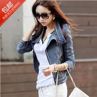 women's slim short design denim short jacket female denim jacket