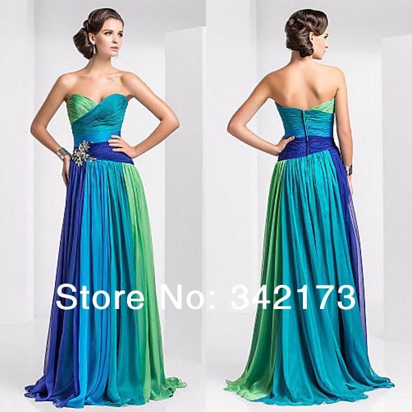 Wonderful 2016 Dress New Summer Style Green Women Purple Blue V Neck Long Fromal