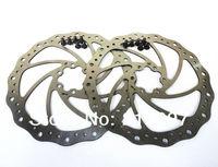 Free Shipping New 2pcs Bike Disc rotors bicycle brakes disc brake rotor 160mm + 12 pcs Ti Tianium Black  Bolts