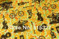 50cm*110cm Japanese Kokka Tilda Cloth Sewing Fabric Patchwork  Cotton Fabric Bright flowers      Yellow