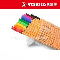 Stabilo fiber pen multicolour hook line pen 10pcs/set