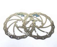2pcs Bike Disc rotors bicycle brakes disc brake rotor 180mm + 12 pcs Ti Tianium Colorful Bolts Free Shipping
