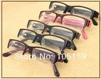 Free Shipping Eyewear accessories Mens Womens Trendy Half Frame Acetate Prescription Glasses