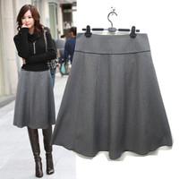 women's half-skirt medium-long plus size autumn and winter bust skirt medium skirts over-the-knee a-line skirt