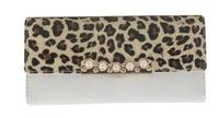 Womens Fashion PU Leather Wallet Ladies Purse Leopard Print Clutch Wallet (Various Colours)