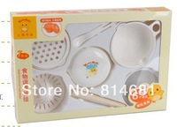Multifunctional 7 in 1 Baby Food Processor Grinder Maker Set With Lapping Plate Squeezer Strainer Bowl And Stick 1Set