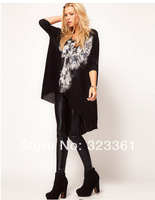 Free shipping 2014 new arrival fashion loose women Skull Rock T-shirts swallowtail