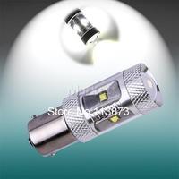 10pcs 1156 BA15S P21w 30W Auto Pure Fog Tail Turn CREE XBD LED car S25 Light Bulb Lamp parking Reserve Lights car light source