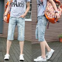 .*-*..Spring Summer style Korean Slim / zipper men's Shorts / fashion s casual cotton pants feet