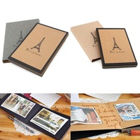 Photo Album Black Card Type Handmade Eiffel Tower Collection DIY 14 Pages New 95332-95333