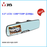 Free shipping rearview mirrior HD Car Camera DVR Blackbox Loop Recording With bluetooth function rear mirror car dvr