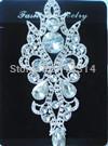 F101288029 Silver Beaded Crystal Rhinestone Applique Embellishment Bridal Motif 1PCS
