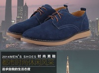 2014  Suede genuine leather shoes men's oxfords casual Loafers, sneakers for men flats shoes