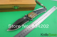 2014 STRIDER SMF SNG PT Tactical Folding knife Green brushed titanium surface 60-62HRC D2 steel G10 Handle hunting knives