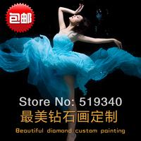 Personality diamond painting Wedding&Private personal design square full rhinestone diamond private photo painting patchwork