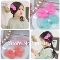 Best Selling  Fashionable 4 color Bow Hair Accessories Hair Clips With Pearl High Quality  Cute Girls  Hairpins PJ-171