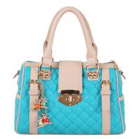 Autumn fashion 2013 women's fashion handbag vintage dimond plaid candy color handbag messenger bag