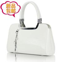 Women's lather-bag japanned leather bags 2014 women's handbag white fashion vintage handbag