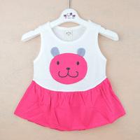2014 children's summer clothing female child tank dress