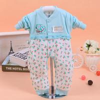 Child romper baby clothes newborn baby spring and autumn cotton 100% vigogne romper open file underwear