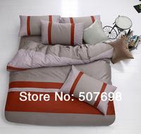 April 2014 Latest DATE Reactive dyeing 100% CM Cotton conjoint Plaid  4 PCS Bedding set  (bedspread ,pillowcase ,quilt cover )