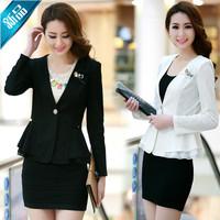 2015 spring slim casual female ol lace blazer outerwear blazer plus size m-5xl free shipping 25
