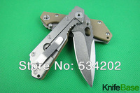 2014 STRIDER SMF SNG PT Stone wash blade folding knife Light Green G10 steel HANDLE 5Cr13Wov 56HRC tactical knives wholesale