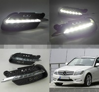 eCitBuy Mercedes-Benz C-Class W204 C260 C300 Sport 2008-2010 Daytime Running Lights Car LED DRL Daylight (1 Pair)