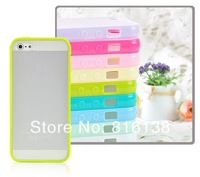 Free Shipping Frosted Transparent Shell Case For Phone 5S Phone 5  Phone 4 4S Candy Colored Cover Cases  Wholesale