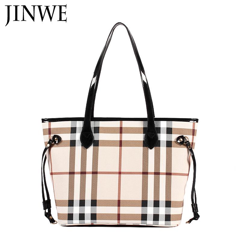 Fashion Women's Handbag Fashion Classic Large Check Plaid Bags