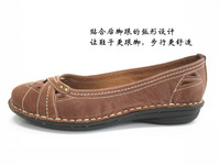Vintage Retro wear flat shoes comfortable leather inside and outside for women ELA13E006