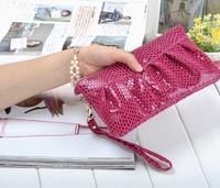 2014 New genuine leather women's evening bag clutch bag cowhide handbag Free shipping