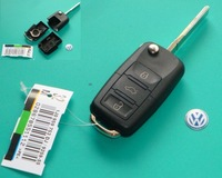 vw 3 button remote key shell key blank case only with free shipping