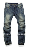Men's wear loose straight jeans Nostalgic classic euramerican style tide 2014 disel brand men's jeans true mens fashion  jeans