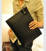 2013 day clutch male briefcase commercial paper bag  for ipad   laptop bag casual bag man