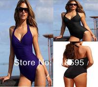 Sexy Strappy One Piece Swimsuit Swimwear Bathing Monokini Push Up Padded Bikini