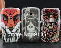 For galaxy s3 mini case fashion animal design cell phone cases covers to samsung galaxy S3 mini i8190 free shipping