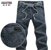 AGS .mens jeans / Spring Summer style Korean Slim / zipper fashion s casual cotton pants feet