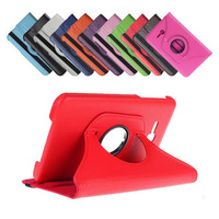 "DHL Free Shipping 50Pcs/Lot 360 Rotating PU Leather Case for Samsung Tab 3 Lite 7"" T110/T111 Smart Cover with Stand"