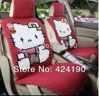 2014 HIGH QUALITY/HOT SELLING 100% Pure Manual Knitting Car Seat Cover Set Women Cute Car seat cushion Hello kitty seat cushion