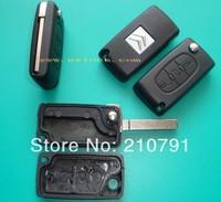 Folding Remote Key Shell Case For Citroen C2 C3 C4 C5 C6 Light Symbol 3BTN