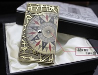 Wholesale 5pcs/lot Compass treasure map electronic touch senser torch cigar lighter rechargable exchange gift box
