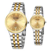 Women Dress Watch Fashion Wristwatches Luxury Quartz Watch Men Watches EYKI EET8615 Calendar Luminous Steel Watchband