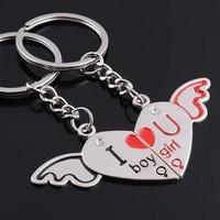 Couple key chain , key pendant keychain gift